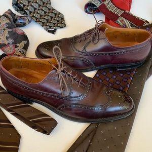 Alden burgundy leather wingtip style 929 size 12